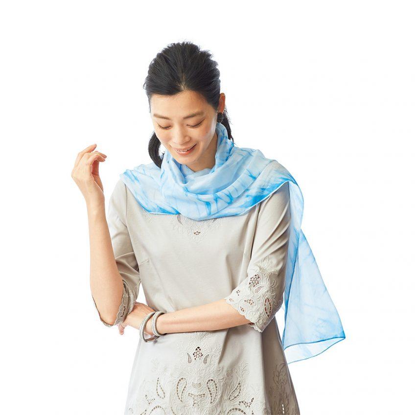 家庭画報ショッピングサロン 夏号 KIZOME 「UMI scarf」販売