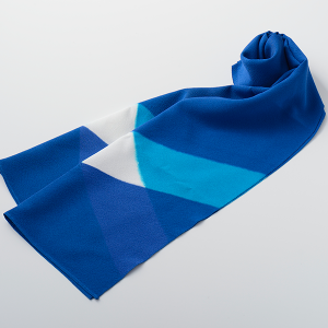 KIZOMÉ kizomé+ IRODOIスカーフsquare ブルー
