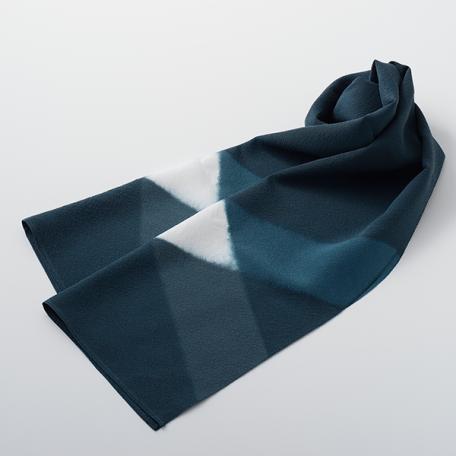 KIZOME_IRODORI_Scarf_square_gray