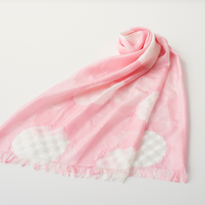 KIZOMÉ DIGITAL3D Shiboriスカーフ<わっふる>あさひ ピンク