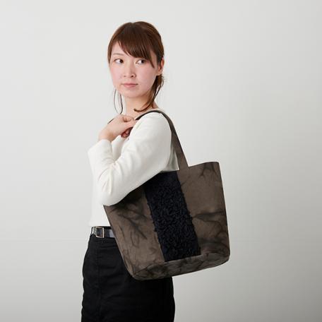 aun_Shibori_bag_kakishibuzome_Oval_L_01