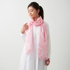 KIZOMÉ DIGITAL3D Shiboriスカーフ<わっふる>ころな ピンク