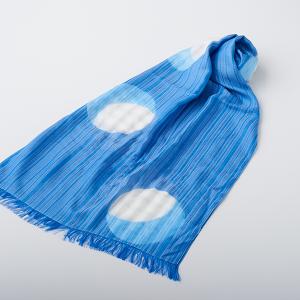 KIZOMÉ DIGITAL3D Shiboriスカーフ<わっふる>にちりん ブルー