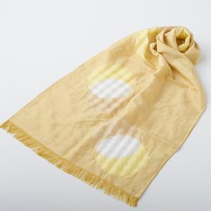 KIZOMÉ DIGITAL3D Shibori スカーフ<わっふる>にちりん 黄