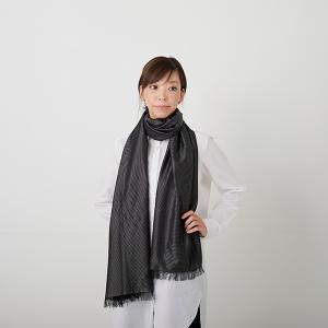 KIZOMÉ DIGITAL3D Shiboriスカーフ<わっふる>ゆうひ ブラック