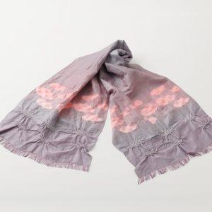 KIZOMÉ DIGITAL3D Shibori ストール<わっふる>そら 横柄濃紫